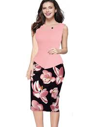 online get cheap good work qualities com alibaba group good quality womens new arrival print floral solid patchwork button casual work sleeveless bodycon summer office