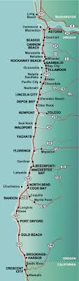 Map Oregon Coast Towns Map Feccnederland