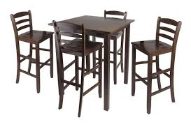 simple small high top kitchen table with  chairs with high legs