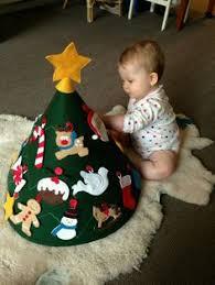Handprint Christmas Tree Babyu0027s 1st Christmas Craft  No Time Infant Christmas Crafts