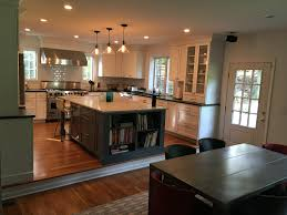 Kitchen Family Room Step Down To Family Room Design Ideas Pictures Remodel And