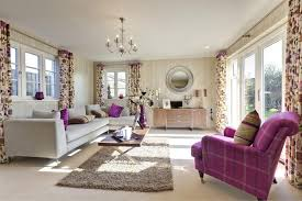 living room purple themed ideas wooden coffee table black transpa white fabric curtain light grey stained