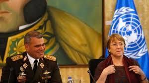 Resultado de imagen para bachelet y militares venezolanos