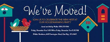 Moving To A New Nest Let Your Friends Know And Invite Them