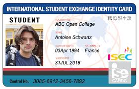 isec Student Isecard Card International Identification