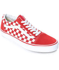 vans shoes red and white. vans old skool red \u0026 white checkered skate shoes and s