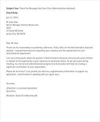 Thank You Letter After Second Interview For Administrative Assistant Jpg Resize 600 730 Ssl 1