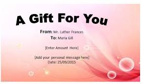 gift certificates format free gift certificate template microsoft word gift certificate