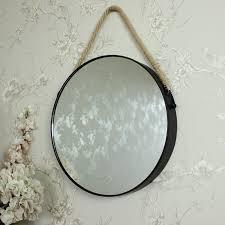 round black metal wall mirror 39cm x 39cm