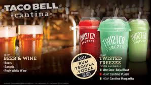 taco bell menu drinks. Unique Bell Pushing To Attract Millennials Taco Bell Will Offer Beer And Wine  The  TwoWay NPR Menu Drinks