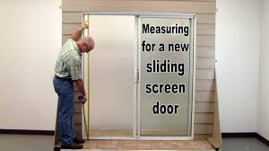 Sliding patio doors with screens Depot Bellflowerthemoviecom Howto Measure For New Sliding Screen Door Youtube