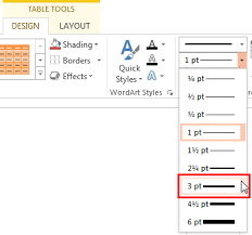 Weight Table Set Line Weight For Table Borders In Powerpoint 2013 For