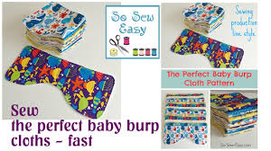 Burp Cloth Pattern Delectable Sewing The Perfect Baby Burp Cloth Pattern YouTube