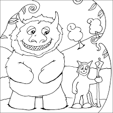 Small Picture Where the Wild Things Are coloring pages