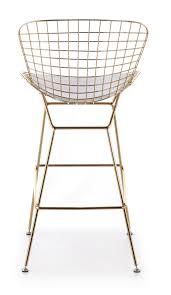 bertoia bar stool in gold  advancedinteriordesignscom