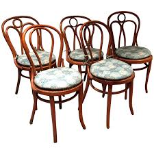 thonet chair styles set of seven mismatched style bentwood side chairs with cushions for thonet thonet chair