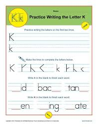 letters practice sheet letter k worksheets printable handwriting worksheet