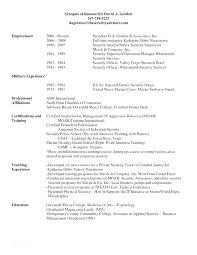 Program Security Officer Sample Resume Enchanting Sample Security Resume Mmventuresco