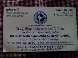 New India Insurance Family Floater Mediclaim Policy Premium Chart The New India Assurance Co Ltd Chandigarh Sector 35c