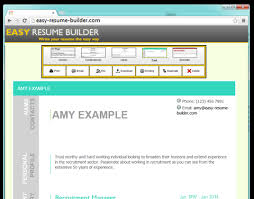 Easy Resume Builder The Easiest Way To Write Your Resume