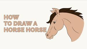 Small Picture How to Draw a Horse Head in a Few Easy Steps Drawing Tutorial for