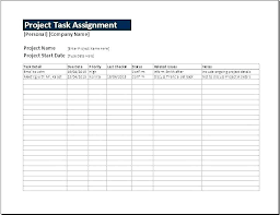 Task List Template Excel Spreadsheet Project Task List Template