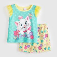 Disney Aristocats Marie Infant \u0026 Toddler Girl\u0027s Pajamas