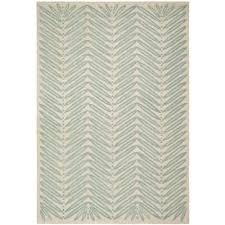 safavieh martha stewart chevron leaves blue fir 8 ft x 10 ft area rug