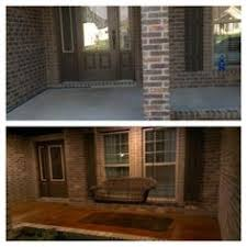 stained concrete patio before and after. Acid Stained Concrete Front Porch. Before And After Patio I