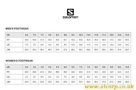 Salomon Running Shoes Size Chart Salomon Shoes Chart Size Xlcorp Co Uk