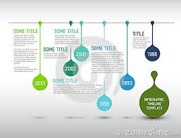 Colorful Infographic Timeline Report Template With Drops Vector ...