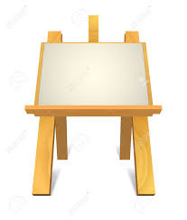 wooden easel with blank canvas stock vector 9651961