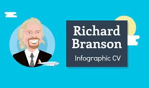 Richard Branson's Resume #Infographic