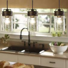lighting for a kitchen. Industrial Farmhouse Glass Jar Pendant Light Lighting Kitchen Island By UpscaleIndustrial On Etsy For A