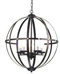 bronze orb chandelier antique bronze globe sphere cage chandelier 5 light pendant intended for incredible residence