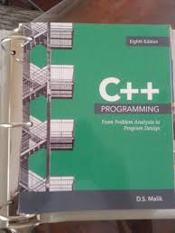 Ds Malik C Programming From Problem Analysis To Program Design C Programming From Problem Analysis To Program Design Loose Leaf 8th Edition