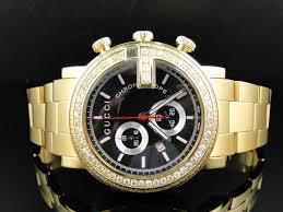 new custom mens 101 g gold pvd real 44 mm diamond gucci ya101334 new custom mens 101 g gold pvd real 44 mm diamond gucci ya101334 watch 3 25 ct