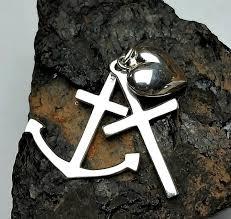 sterling silver cross anchor heart