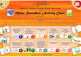Ramadhan Activity Chart For Children Buzz Ideazz Islam