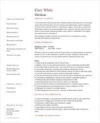 Registered Dietitian Resume Delectable Get Dietitian Resume Template 48 Free Word Pdf Documents Document