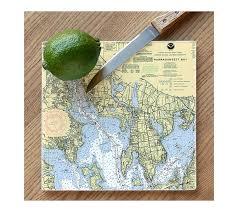 Nautical Chart Cutting Board