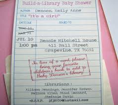 Vintage Book Baby Shower InvitationLibrary Themed Baby Shower Invitations