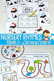 Nursery Rhyme Literacy and Math Stations for Back to School-CC ...