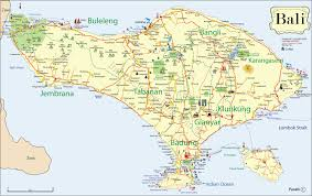indonesia traveling on tourism destination  bali map