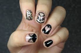 Nail Design Black - Nail Arts