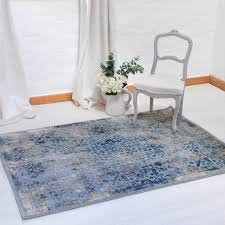 blue and gold rugs