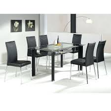 full image for 4 chair dining table in stan black glass dining table with 4
