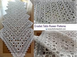 62 crochet table runner patterns the