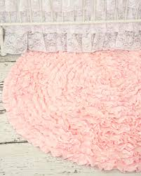 ont pink rugs for nursery how sweet is this ruffle rug a vintage inspired