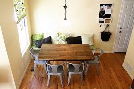 room buy breakfast nook set: dining room vintage table design and grey armchairs in comfy long dining bench long dining bench